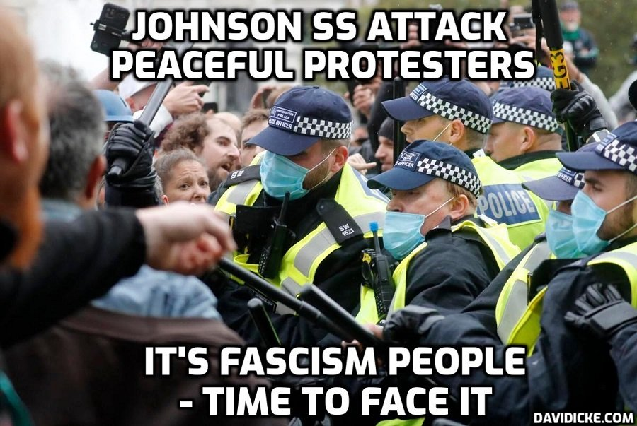 trafalgar-square-lockdown-protest-police attack-peaceful-protesters-copyright-david-icke